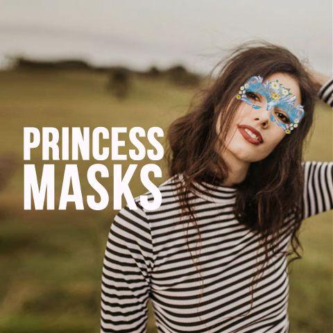 princess masks clipart