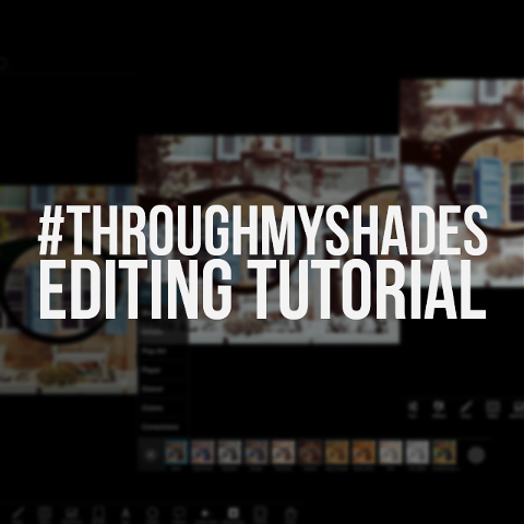 how to create #throughmyshades effect