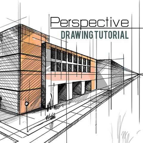 how to draw a perspective drawing step by step