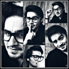 me collage selfie b blackandwhite