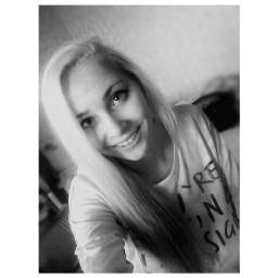blackandwhite smile selfie latvian girl