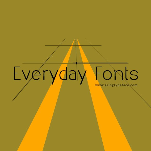 everyday fonts package