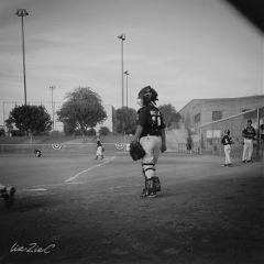 blackandwhite summer baseball