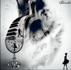music abstract piano editing silhouette
