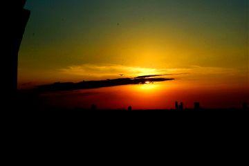 sunset sun scene photography