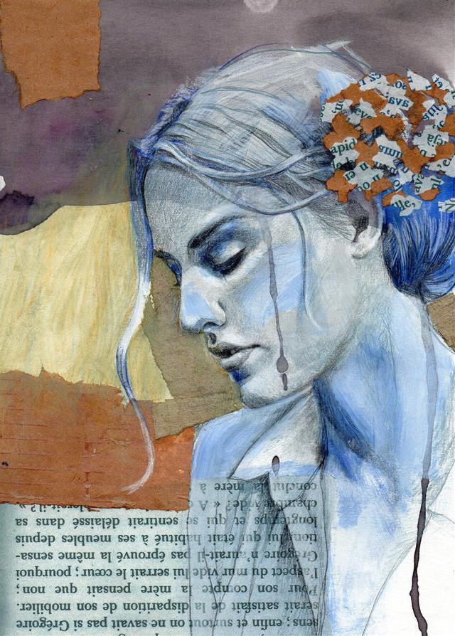 """ Summer spleen "" :-) have a nice end of sunday everyone  #drawing #art #artwork #artistic  #pencilart  #handmadecollage"