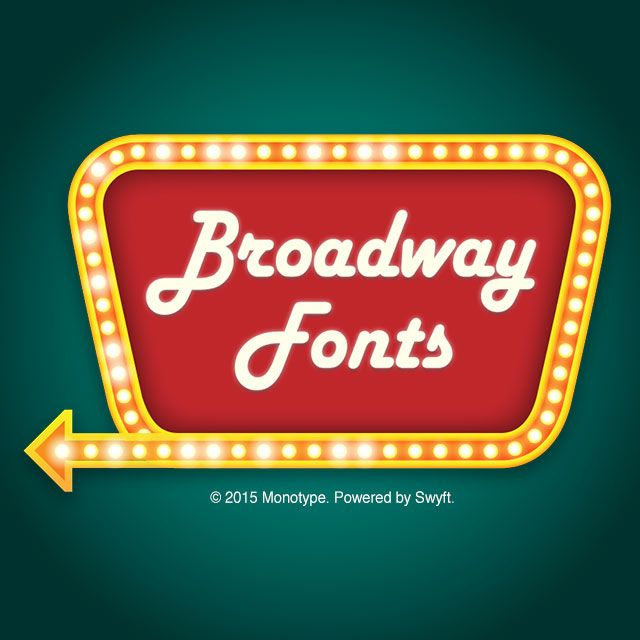 Broadway fonts