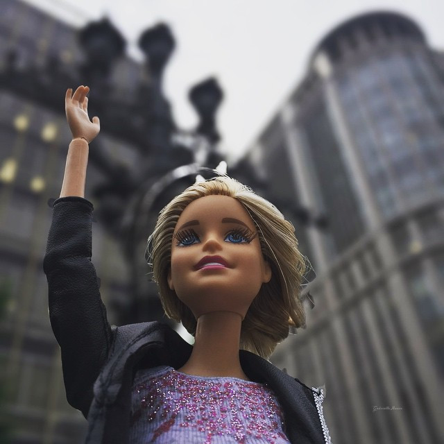 Barbie girl ( @kuchitoo ) , your awesome and unique photo of Barbie dolls was my inspiration for this photograph. Hope you enjoy it.  #lowangle #sky #photography #travel #summer #love #people #barbiedoll  #freetoedit