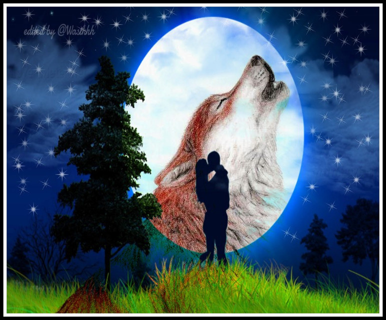 #wolfhowling  #love  #edit  #people #nature #fullmoon  #Night #emotions