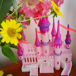 beautiful pink flower girl princess