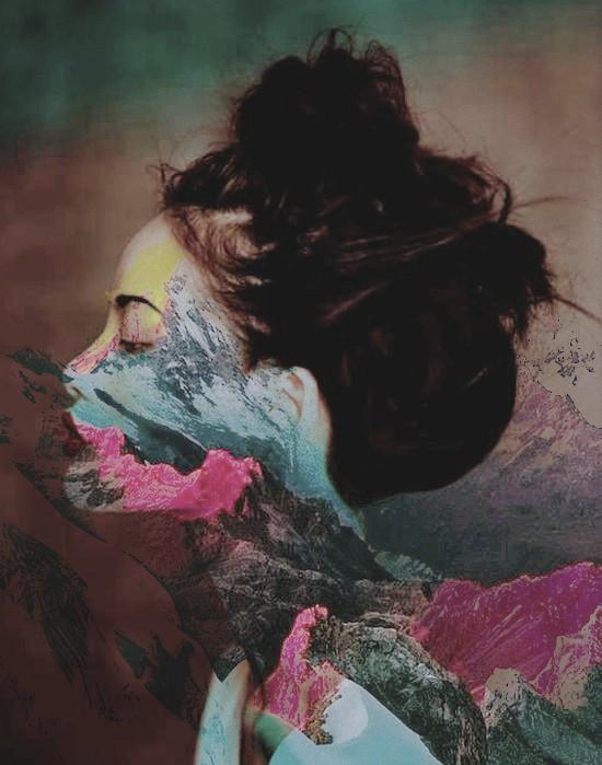 #colors #girl #face #mountain #side #bun #strangenessandcharm